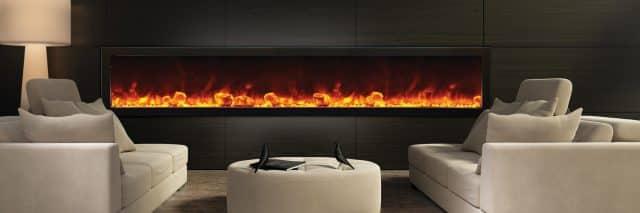 Elektrische haard met realistische vlammen